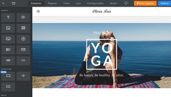 criar site gratuito weebly